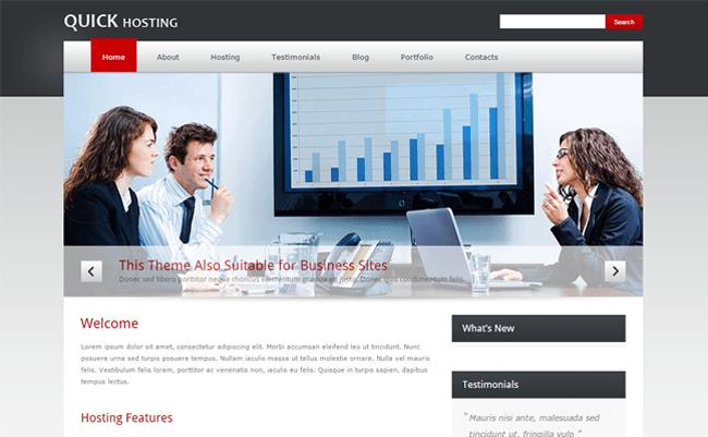 Quick Host WordPress Theme