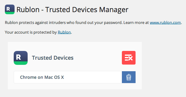 Trusted Devices Manager