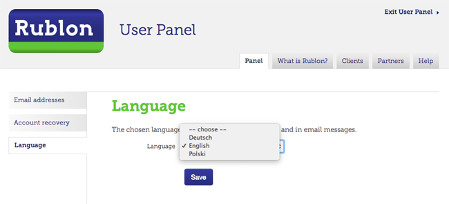 Signing Into the Rublon User Panel