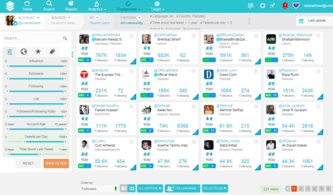 SocialBro: Search