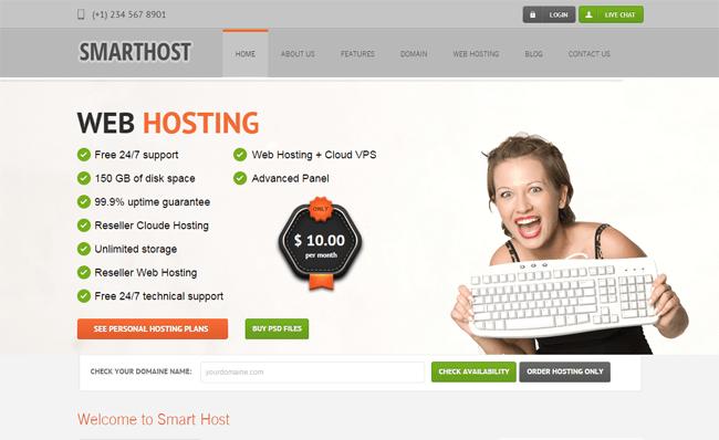 Smart Host WordPress Theme