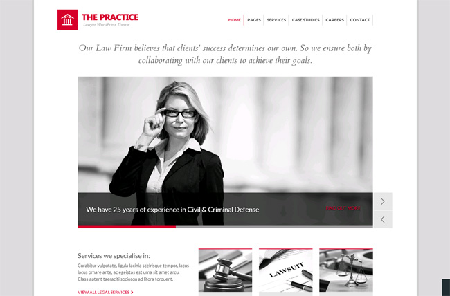 The Practice Premium WordPress Theme