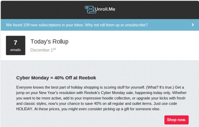 Unroll Me