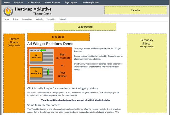 Heatmap Adaptive WordPress Theme