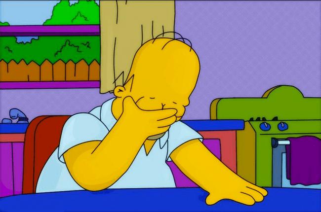 Homer Face Palm