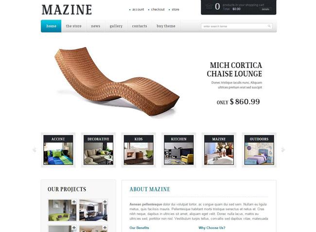 Mazine WordPress Theme
