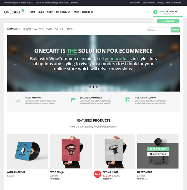 OneCart WordPress Theme