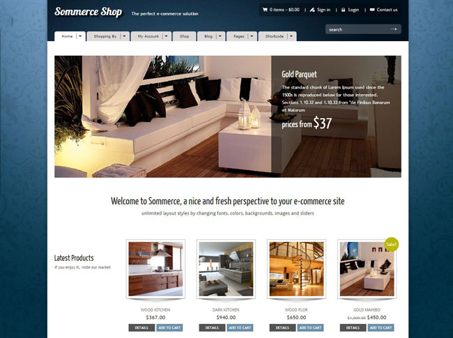 Sommerce Shop WordPress Theme