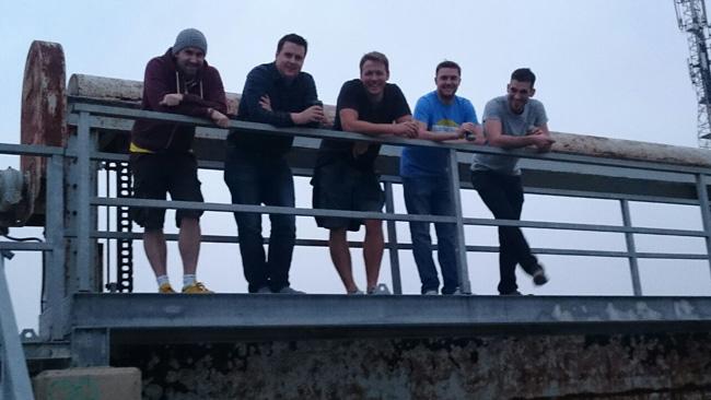 Standing on Bridge