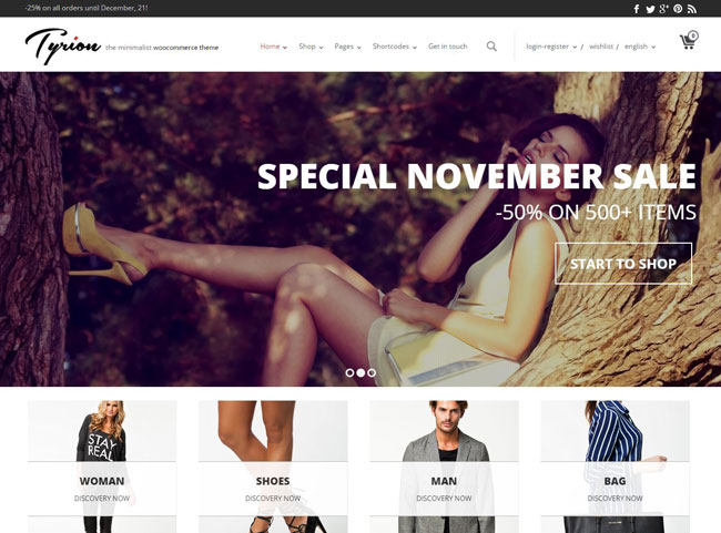 Tyrion WordPress Theme