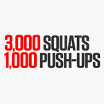 30 Day Challenge – 3000 Squats & 1000 Push-Ups
