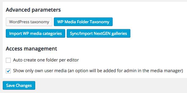 WP Media Folder Settings