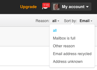 Bounced Email Reason