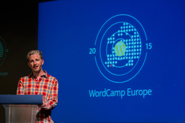 Matt Mullenweg at WordCamp Europe