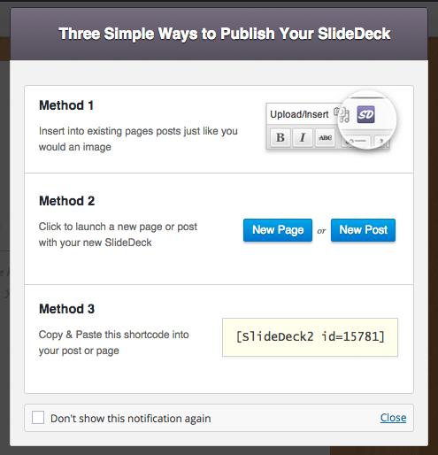 Publishing Your SlideDeck