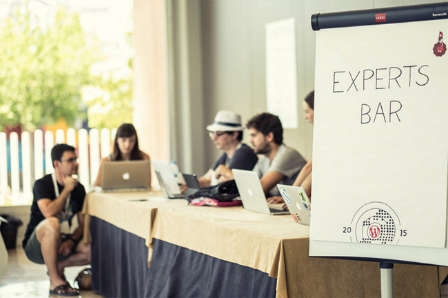 Experts Bar at WordCamp Europe