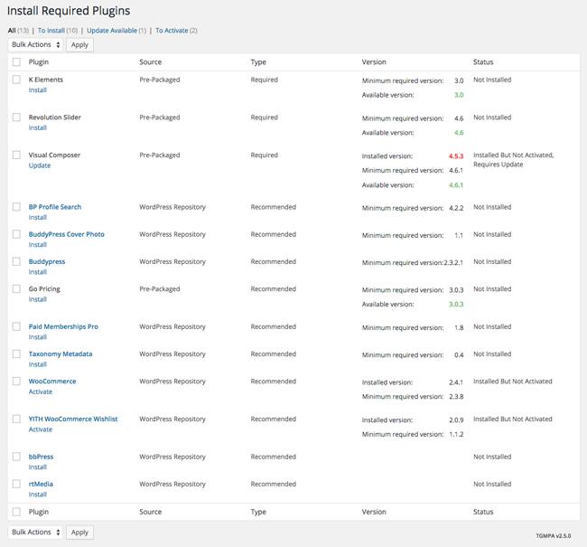 KLEO Plugin List