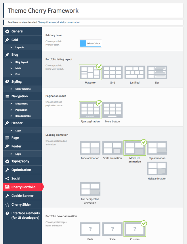 Cherry Framework Portfolio