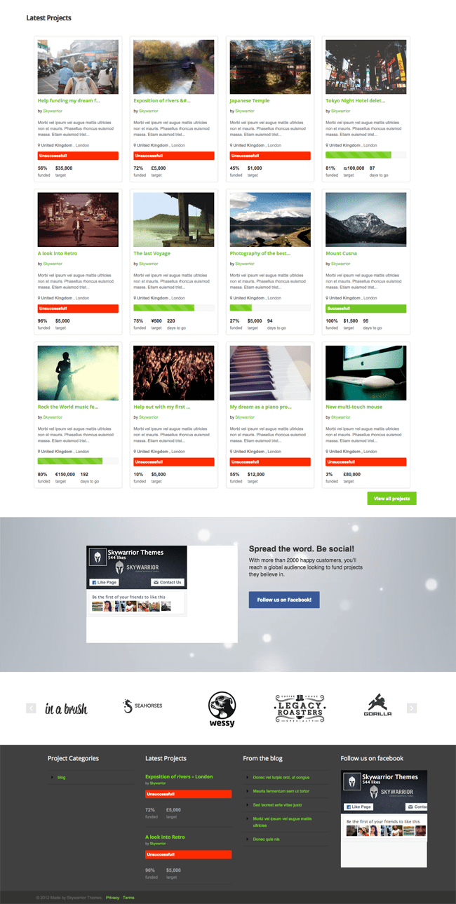 Fundingpress Home Page