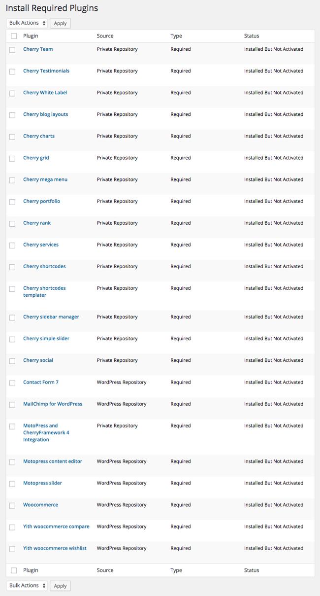 Monstroid Required Plugin List