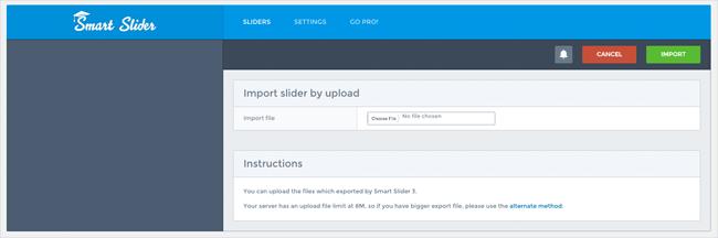 Import a Slider