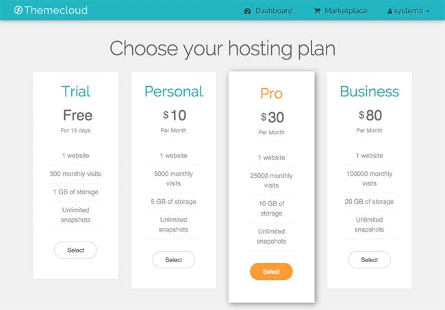ThemeCloud Hosting Plans