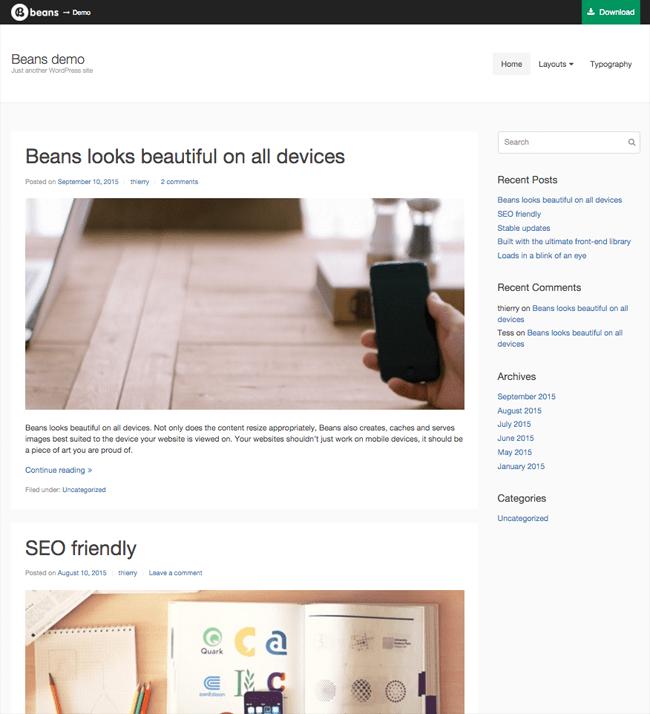 Beans WordPress Theme