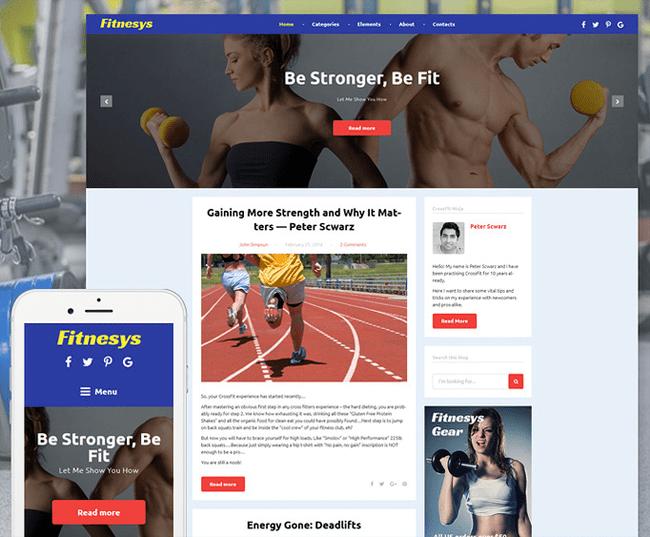 Fitnesys Blog Theme