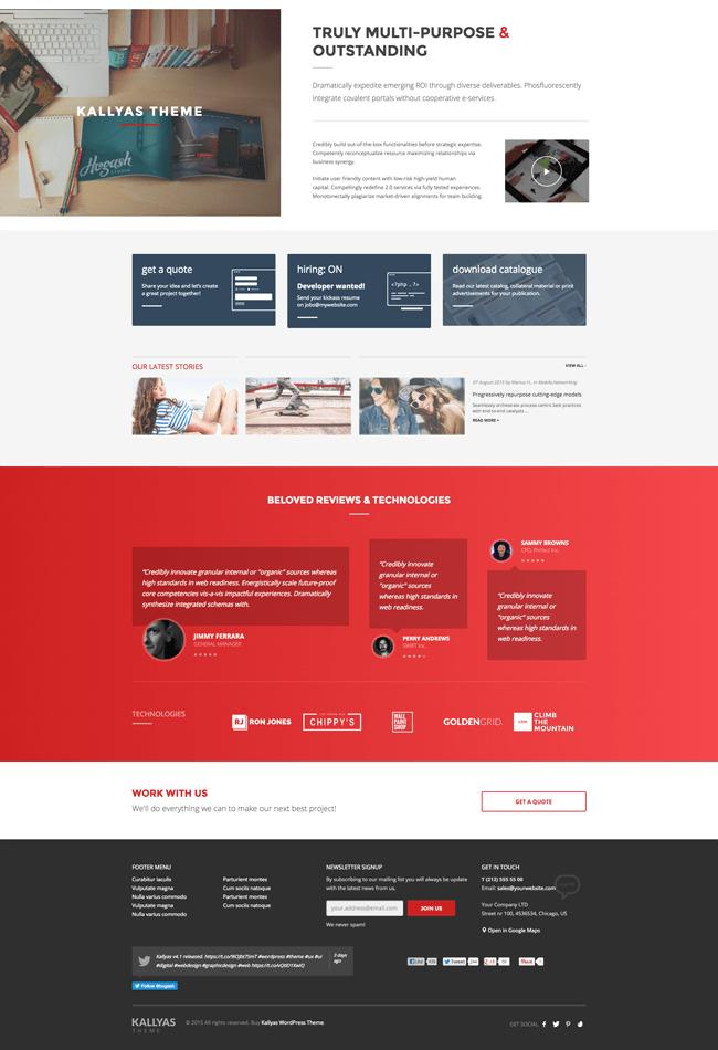 Kallyas Home Page