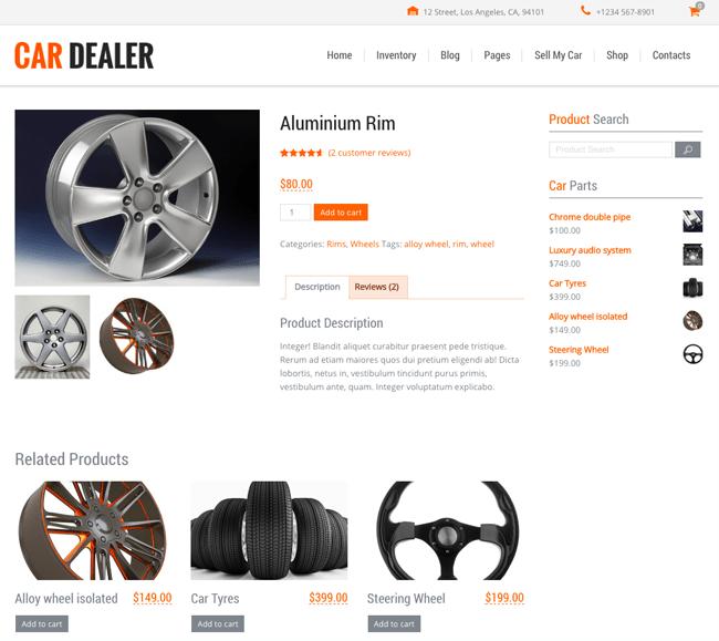 Car Dealer Shop Item