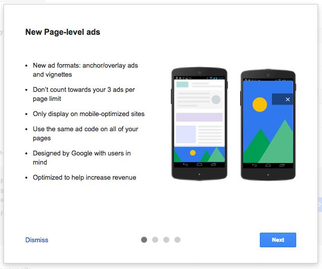 Google Adsense Page-Level Ads