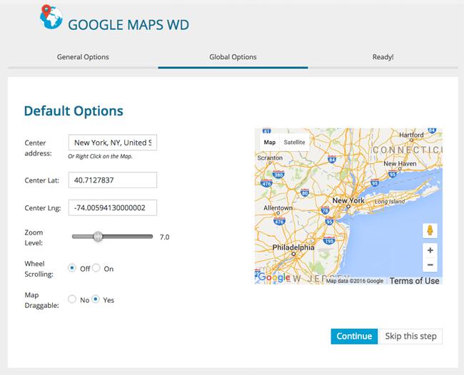 Setting Up Google Maps WD