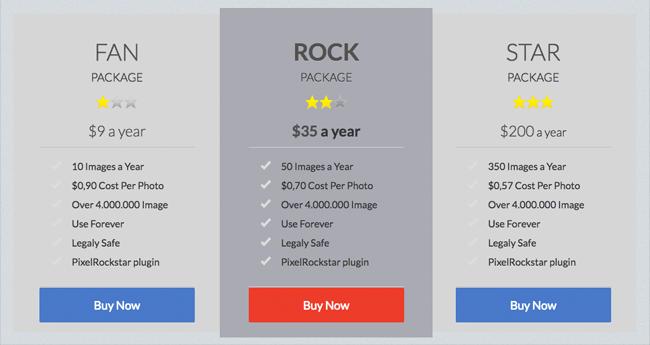 PixelRockstar Pricing