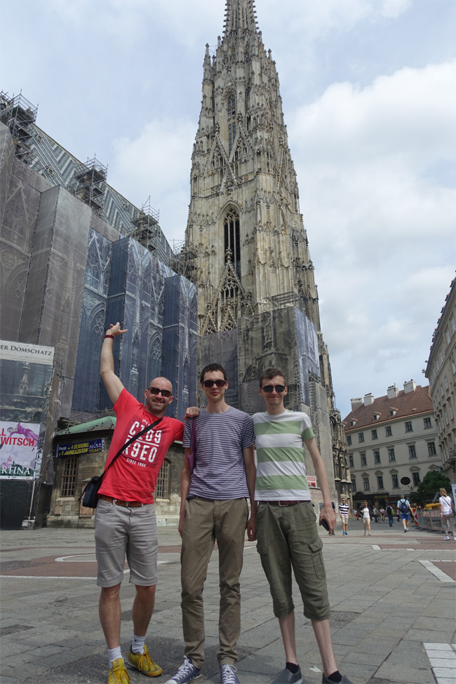 Outside St. Stephen's Cathedral