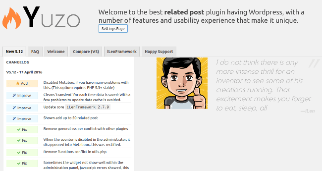 Yuzo Related Posts Plugins