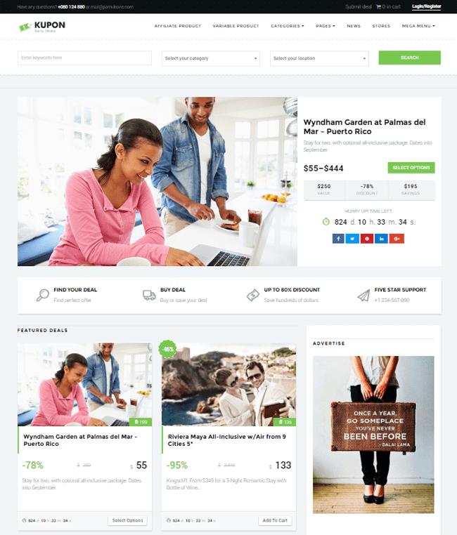 KUPON WordPress Theme