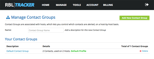 Contact Groups