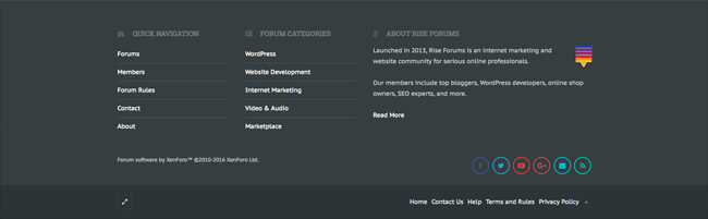 New Rise Forums Footer