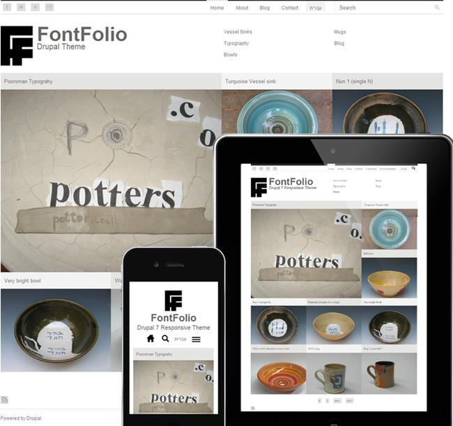 FontFolio Drupal Theme