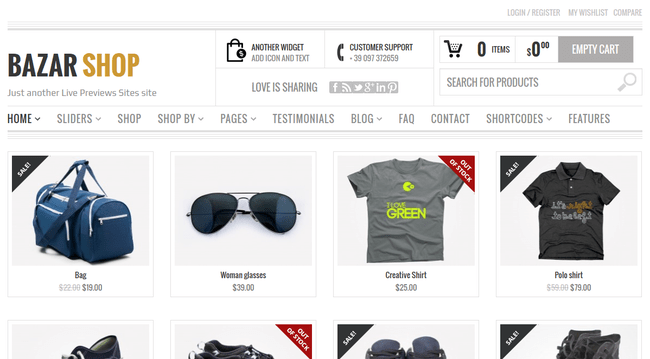 Bazar WordPress Theme