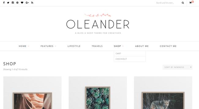 Oleander WordPress Theme