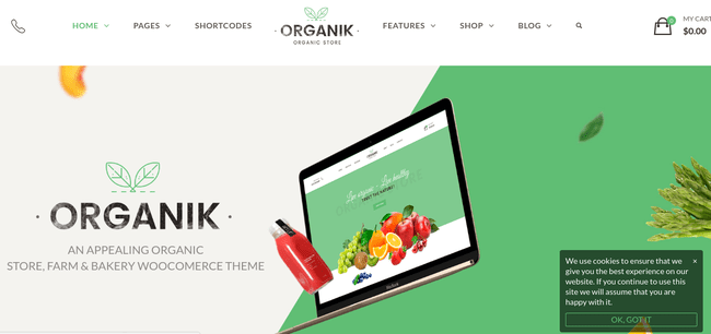 Organik WordPress Theme