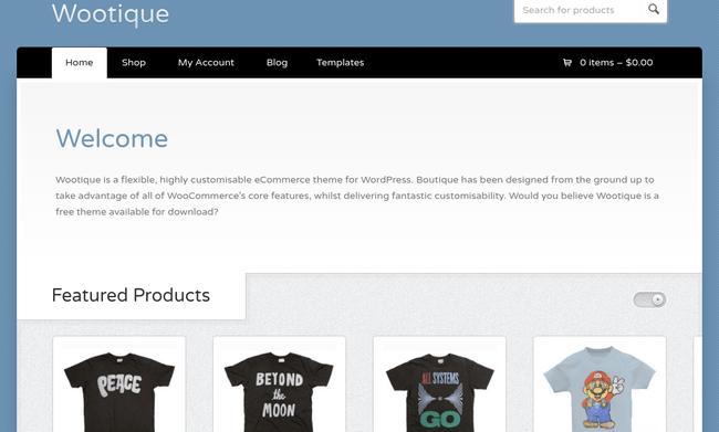 Wootique WordPress Theme