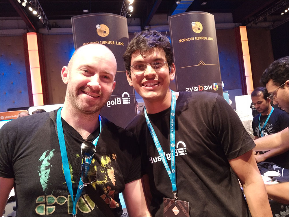 With Akshat at WordCamp Europe 2017.