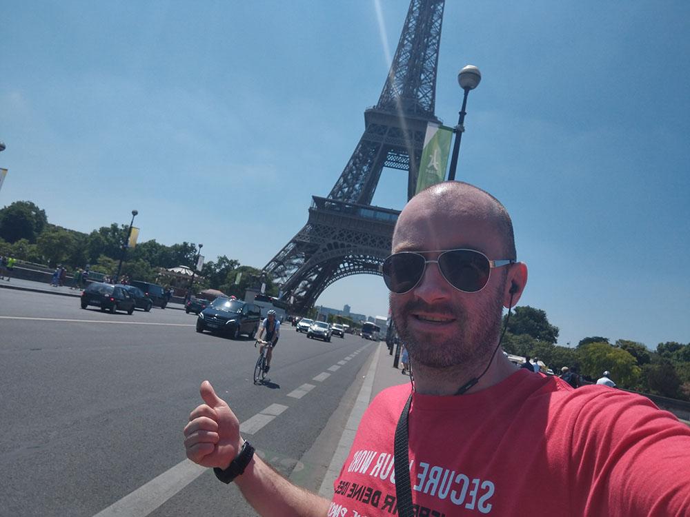 Photo outside Eiffel Tower