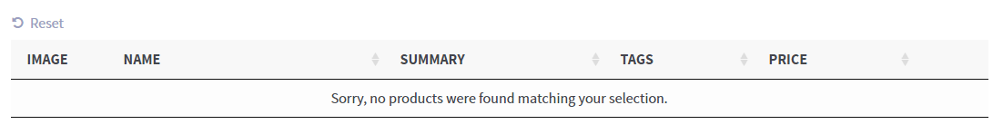 Custom Search Message