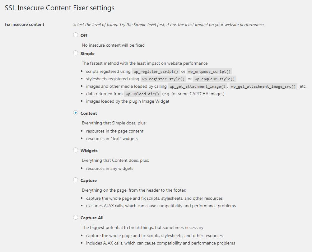 SSL Insecure Content Fixer