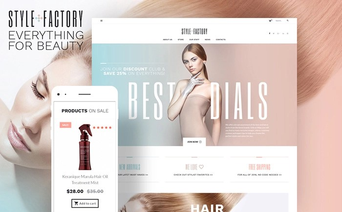 Style Factory – Hairdresser's and Hair Styling WooCommerce Template