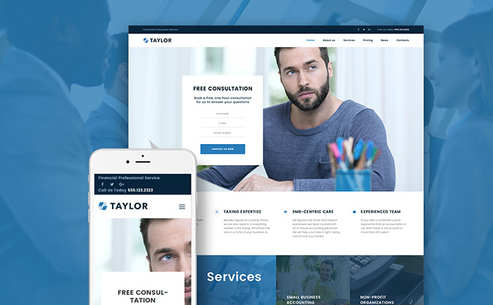 Taylor – Accounting Company WordPress Template