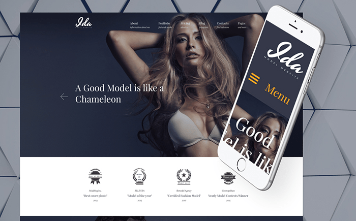 Ida - Model Photo Portfolio WordPress Theme